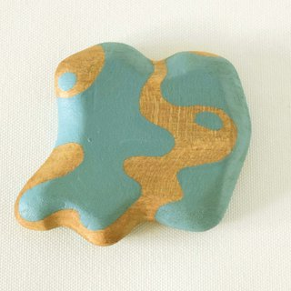 Abstract Vanity Hand Mirror (Light blue) float