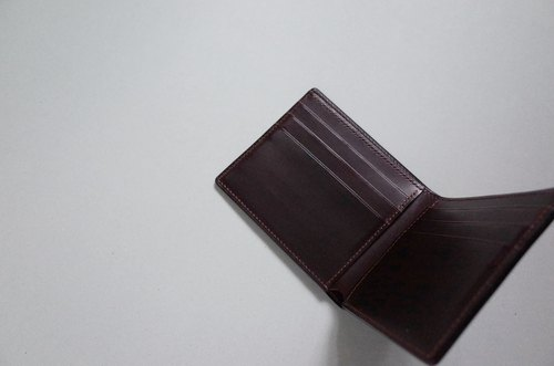 B.Wallet Type01 - Black & Burgundy 经典短夹