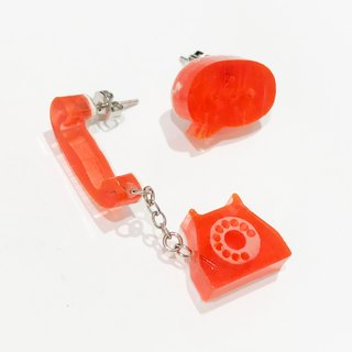 Phone earrings / earrings - red