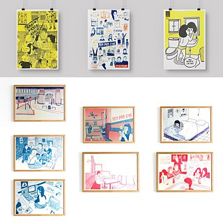 Pam Pam Zine Collection Risograph A3海报一组五张