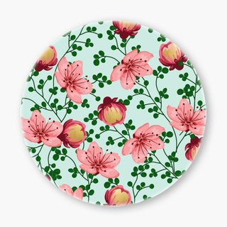 Snupped Ceramic Coaster - 陶瓷杯垫 - Blush Vines
