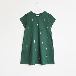 cat boy dress : green