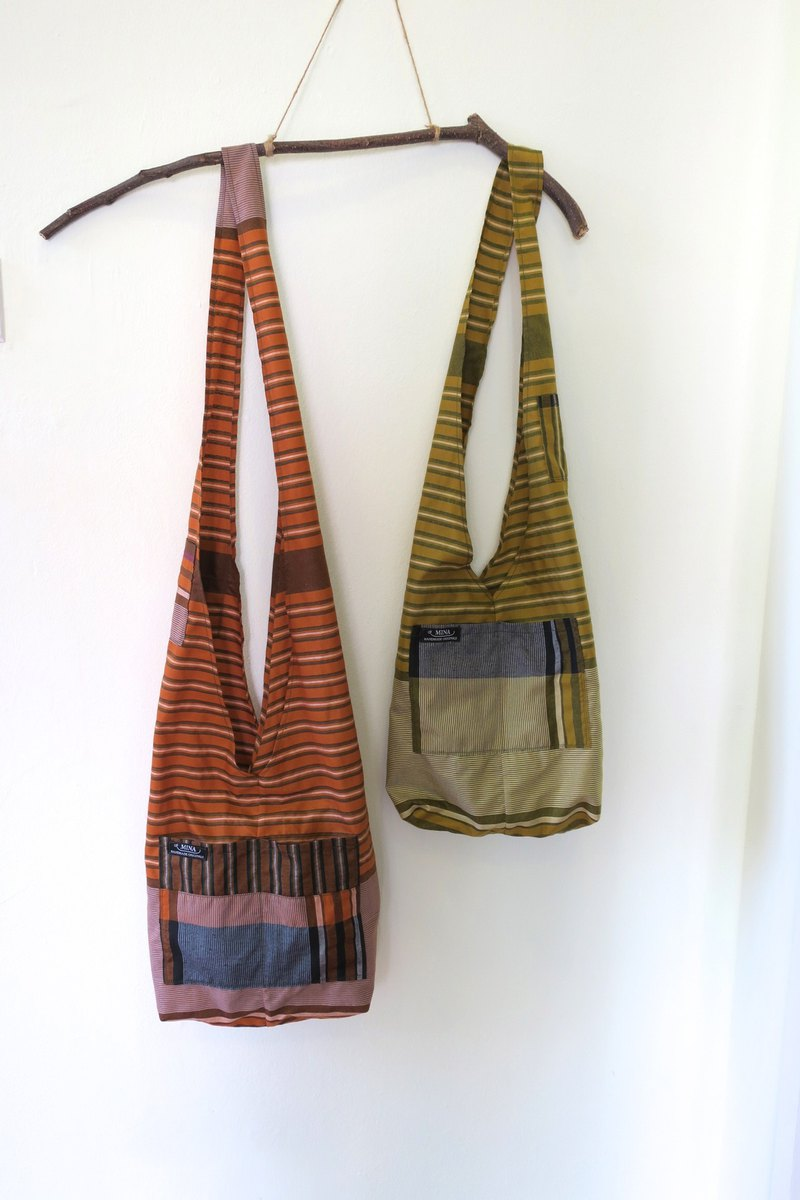 Shoulder Bag Set B Indonesian Sarong Fabric