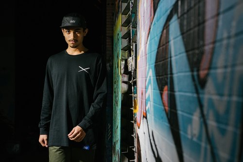 GO OFF NEEDLE LOGO LONG SLEEVE T-SHIRT-针形LOGO 长袖T恤 黑色