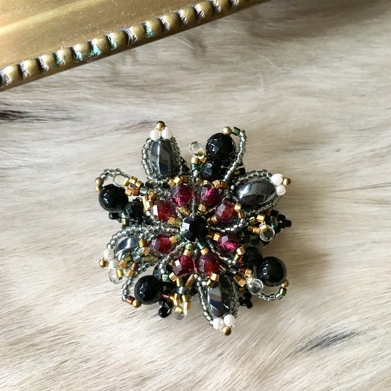 Antique color brooch