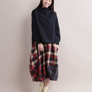 Hem switching deformation balloon skirt