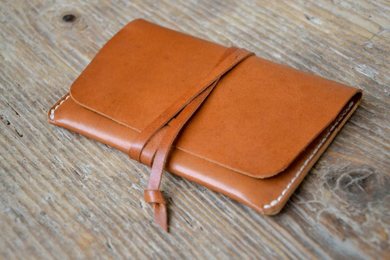 Leather passport holder cover, rustic brown travel wallet, cash card holder, hand stitched, for men & women
