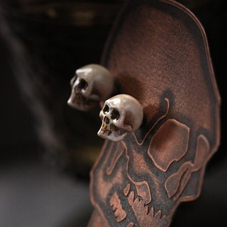 Skulls Stud Earring by Defy/Skulls Earrings/Hand-paint version