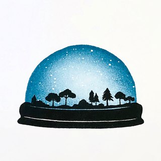 Starry sky dome stamp set