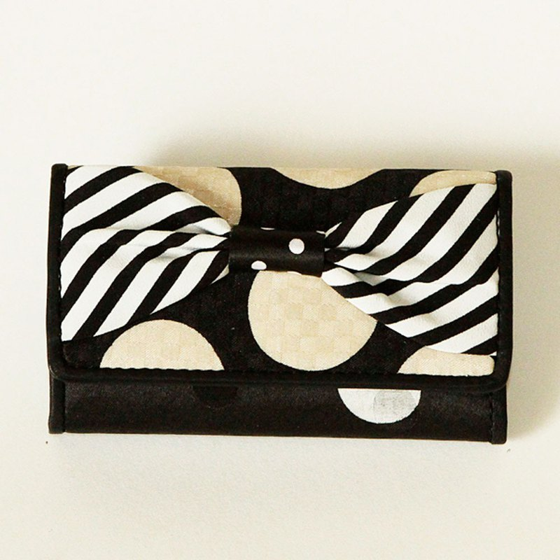 key holder wallet monochrome ribbon Assistant Director dots borders stripes