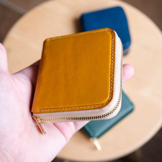 Zipper Purse 拉链零钱包 Italian leather buttero