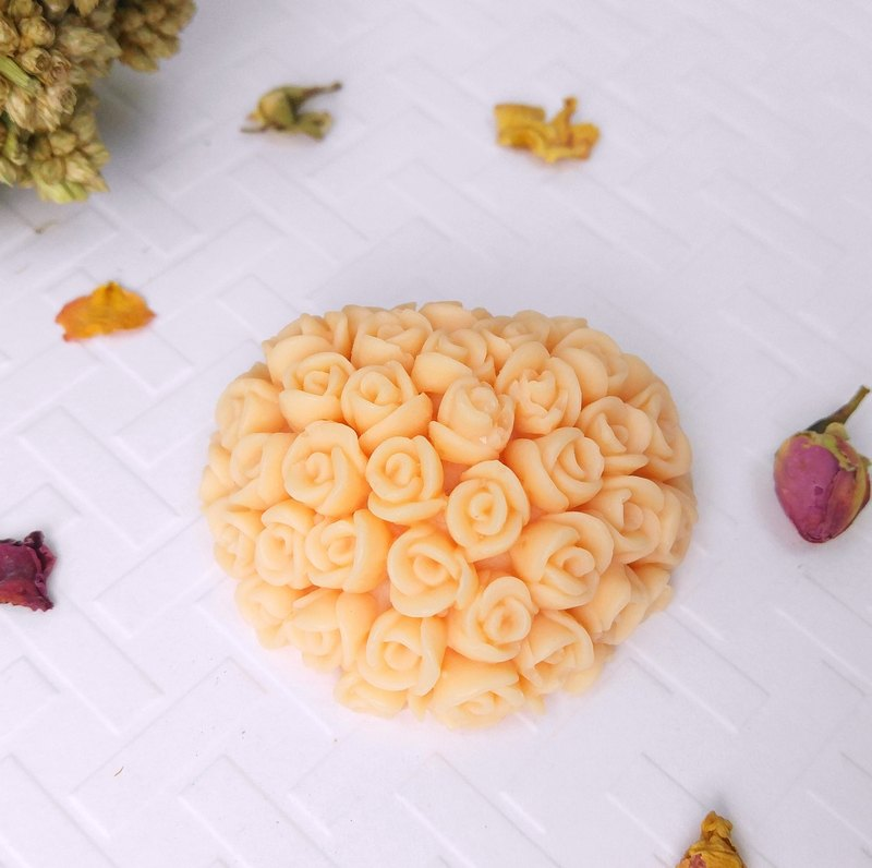 浪漫心形玫瑰香薰蜡 (香薰砖) Heart-shaped Rose Bouquet Scented Soy Wax Sachet - 婚礼小物