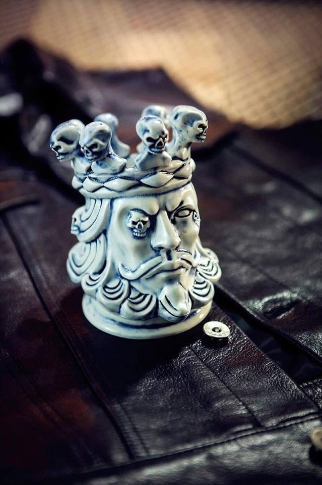 13 ink X 2AS Skull King Incense Holder |老K国王骷髅陶瓷线香座
