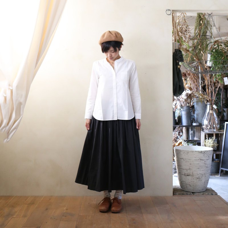 Code lane long skirt · black stripe
