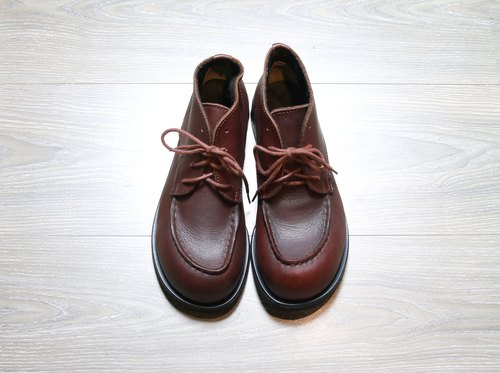 Back to Green 巧克力色 厚底大头鞋 vintage shoes SE40