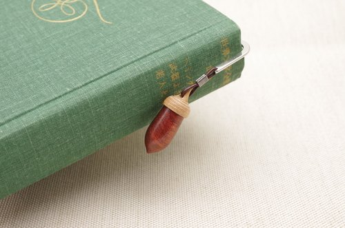 Wood Carving Acorn Bookmark Padouk & Cherry wood