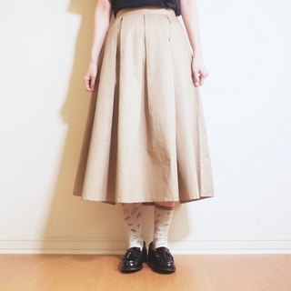 cotton flare skirt : khaki