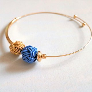 Water drain bracelet Color: Blue × Gold / Free Size