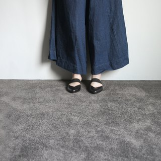 WL Mules V (细致黑) Black Mules Low Heels