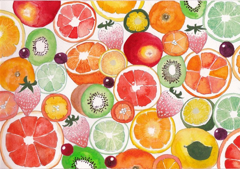 Juicy fruit post card