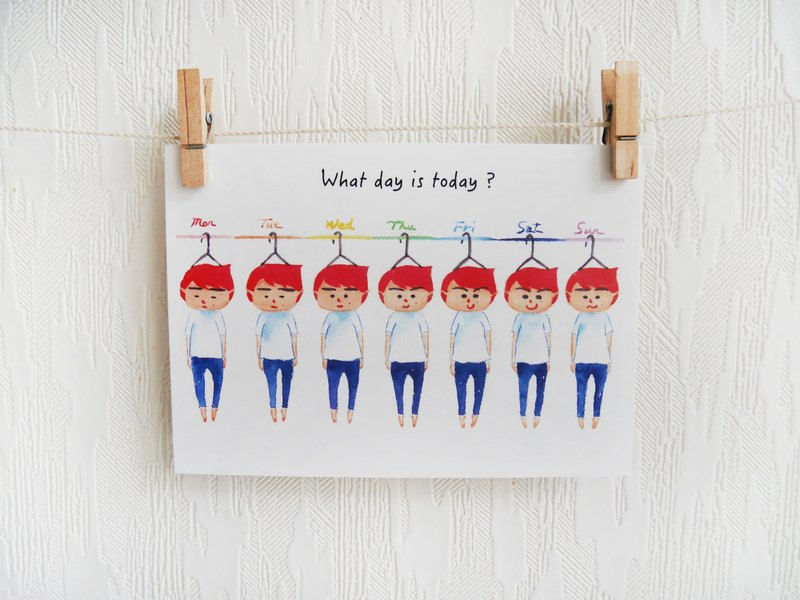what day is today? 明信片 postcard