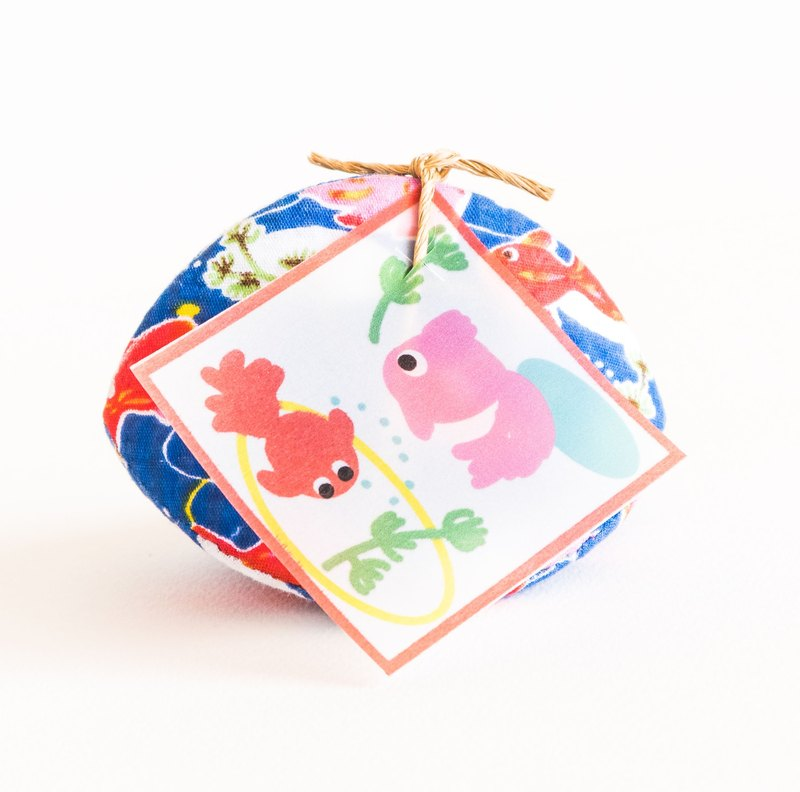 Goldfish  (金魚) Handmade Coin Purse. Ocean blue Kingyo.