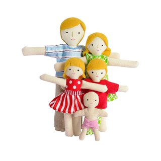 Blonde family of dolls - 雪人家庭 - Family set - Cotton toy - Therapy doll
