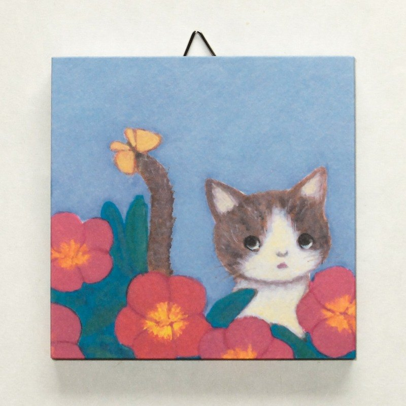 "Mini panel No.58 ""in the Portulaca flowers"""