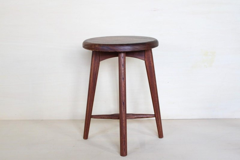 Stool A · zelkova material persimmon antique finish