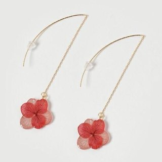 Hydrangea's American Earrings*Pink Red*