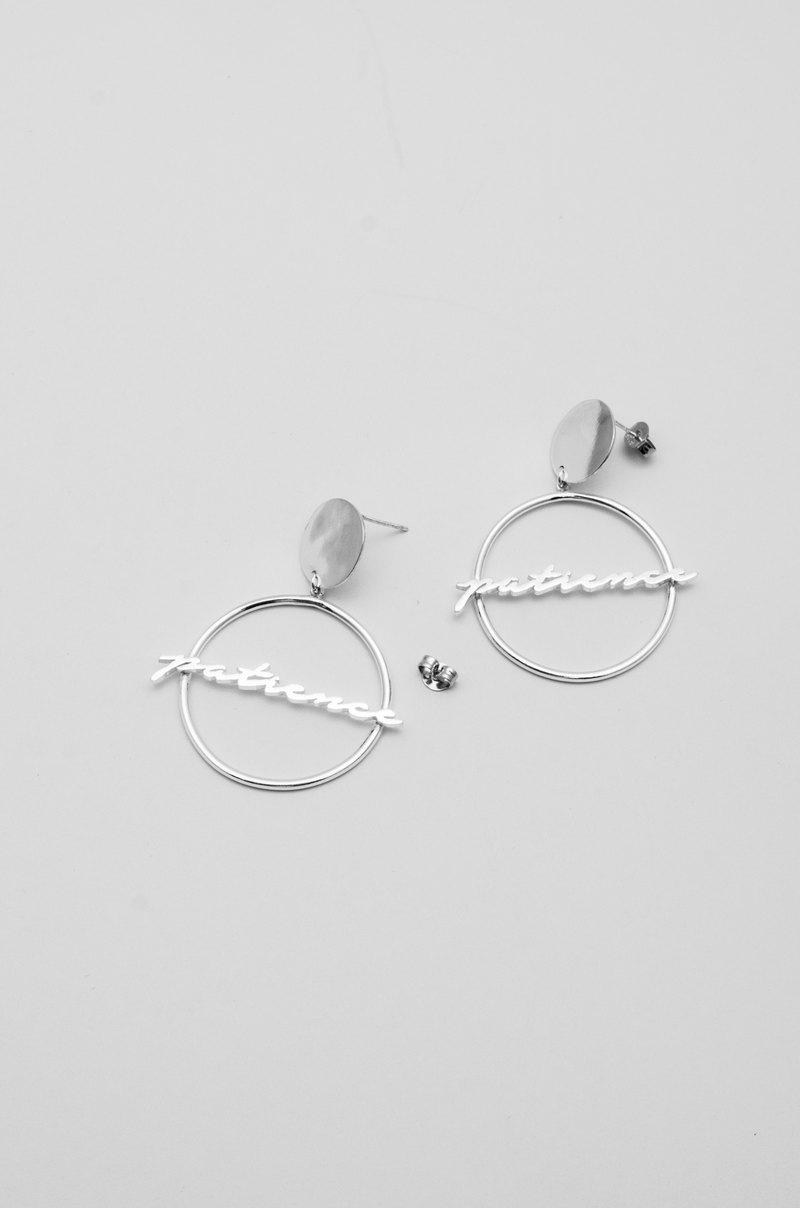 Disc Loop Earring