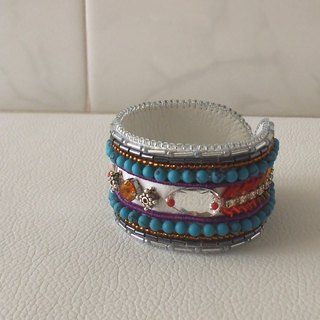 【Beads embroidery】 Simple bracelet no.5