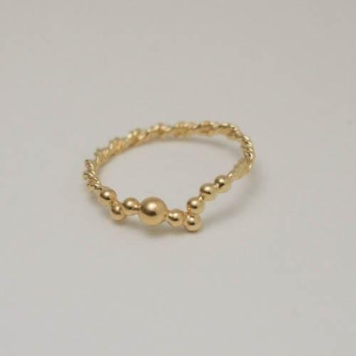tubutubu.wave ring gd 【FR121】
