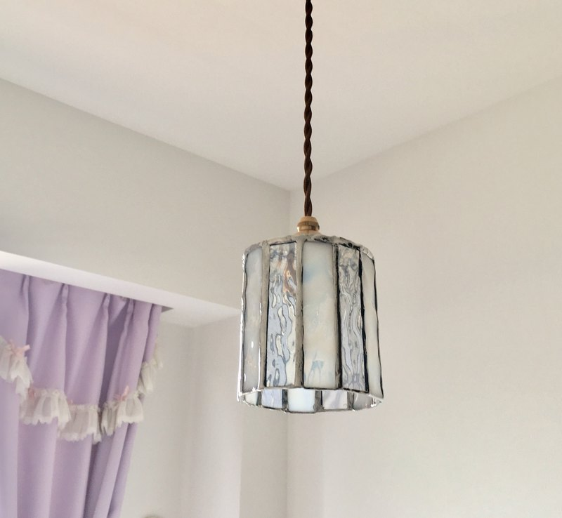 Misty Night Pendant Light White Lily Bay View