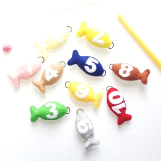 Felt your fishing set number educational toys children