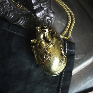 Heart Locket Charm Necklace by Defy/Anatomical Necklace/Heart Locket/Locket Charm
