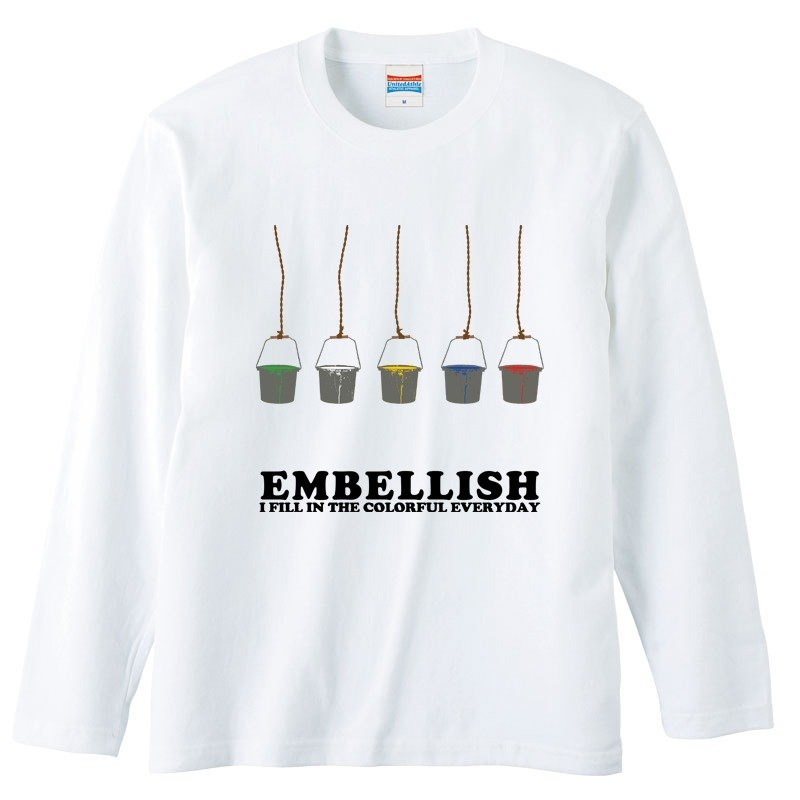[Long sleeve T-shirt] Colorful Bucket