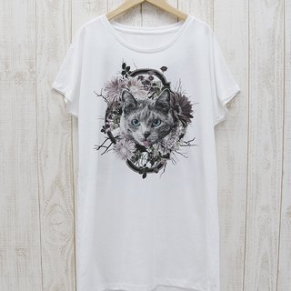 ronronCAT One Piece Tee Flower Frame (White) / RPT 020 - WH