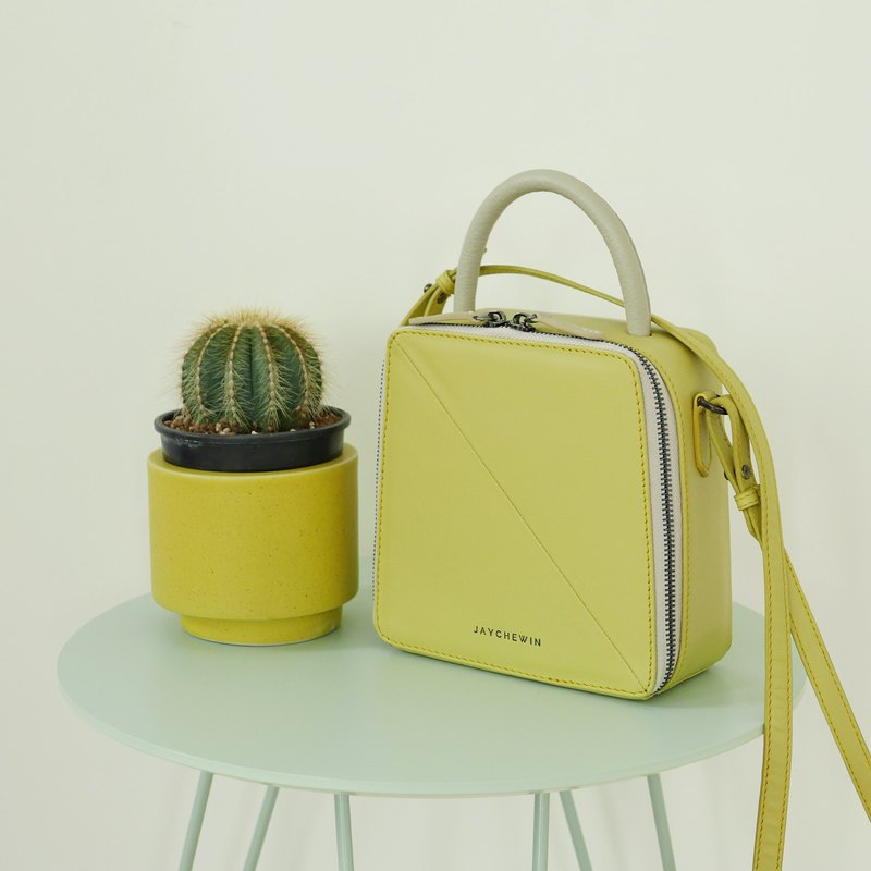 Butter Crossbody Bag in Pudding Yellow