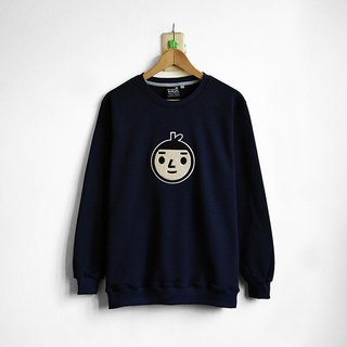 【BestFriend】Jumbo BoyFriend Long Sleeve Sweat / 长袖大学T (深蓝)