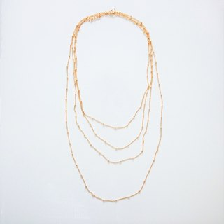 14 kgf * gold station necklace 60 cm 1 piece