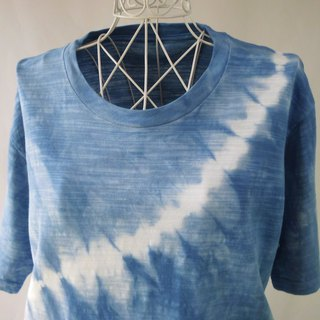 Indigo dyeing · slightly thick tie-dyeing T-shirt _ 2 · wave · L