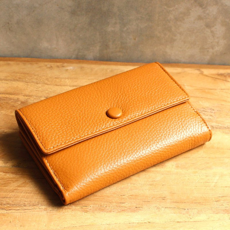 Leather Wallet - Melody - Tan (Genuine Cow Leather) / Small Wallet
