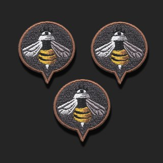 'Gangster Bee' Patch Design
