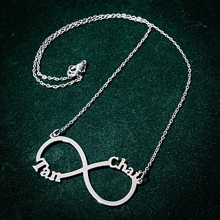 2 names in infinity symbol custom name necklace