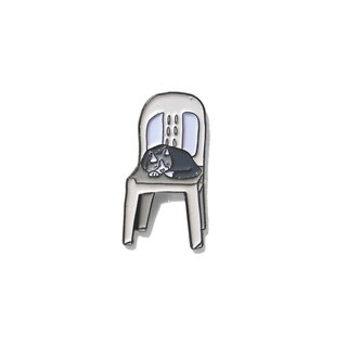 Cat On White Chair Pin