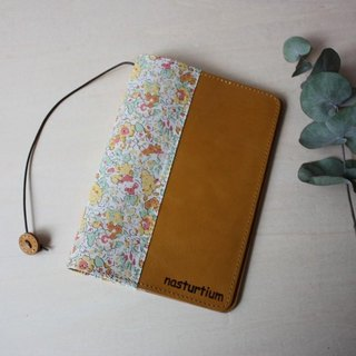 Leather × Liberty Printed Book Cover Yellow