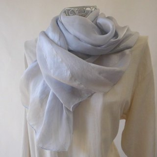 Plant dyeing · silk stole · hibiscus dye · silver gray