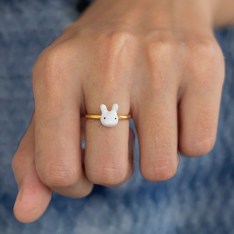 Bunny Ring in Brass - Free Size