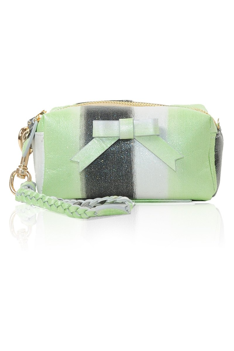 Bebe leather bag in Silvery Lime